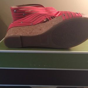 Lucky Brand Shoes - Lucky Brand Pink Wedges sz 9.5
